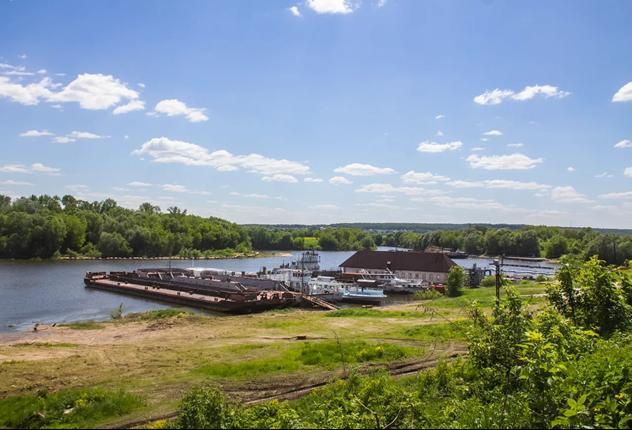 Обследование объектов грузовой инфраструктуры водного транспорта на участке  реки Ока на территории г.о. Серпухов